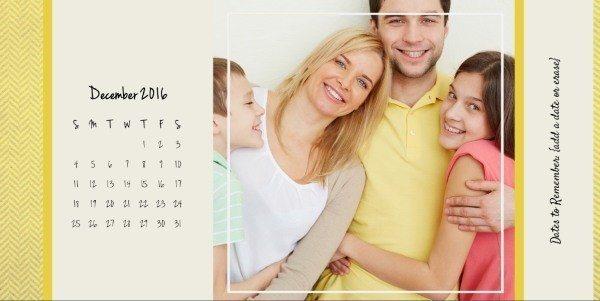 Free printable custom calendar