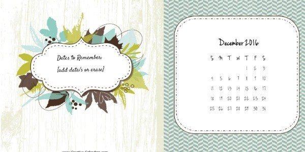 Custom calendar 2016
