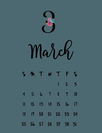 Calendar March 2018