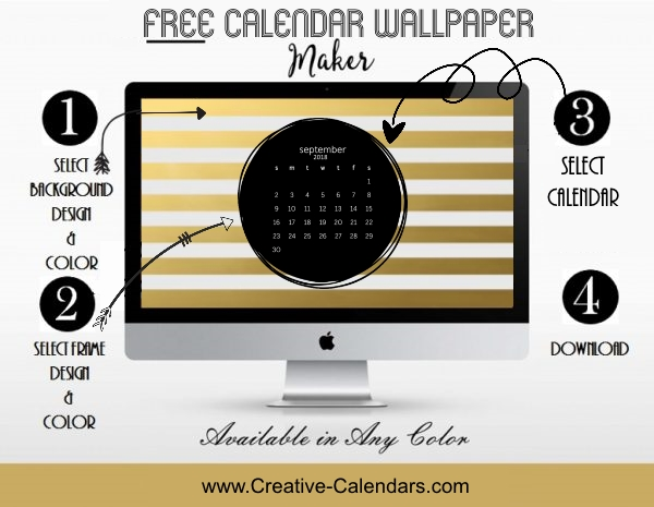 Calendar Wallpaper Maker : Free calendar wallpaper maker create online