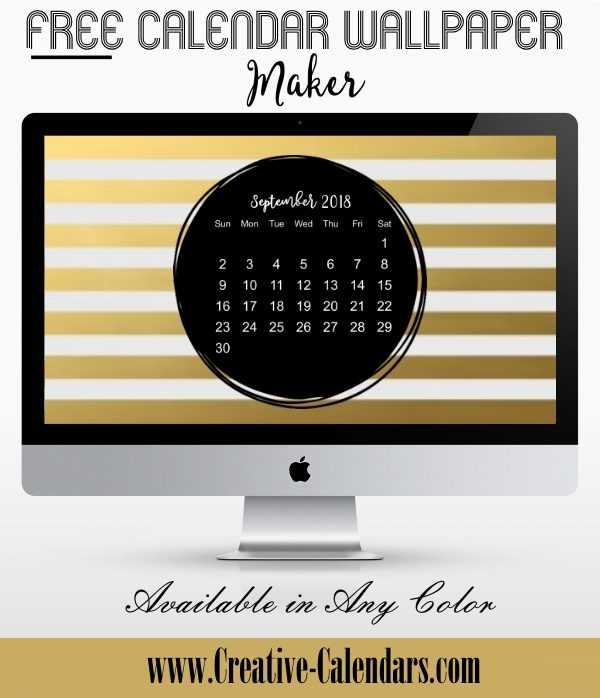 Calendar Wallpaper Maker : Free printable calendar templates