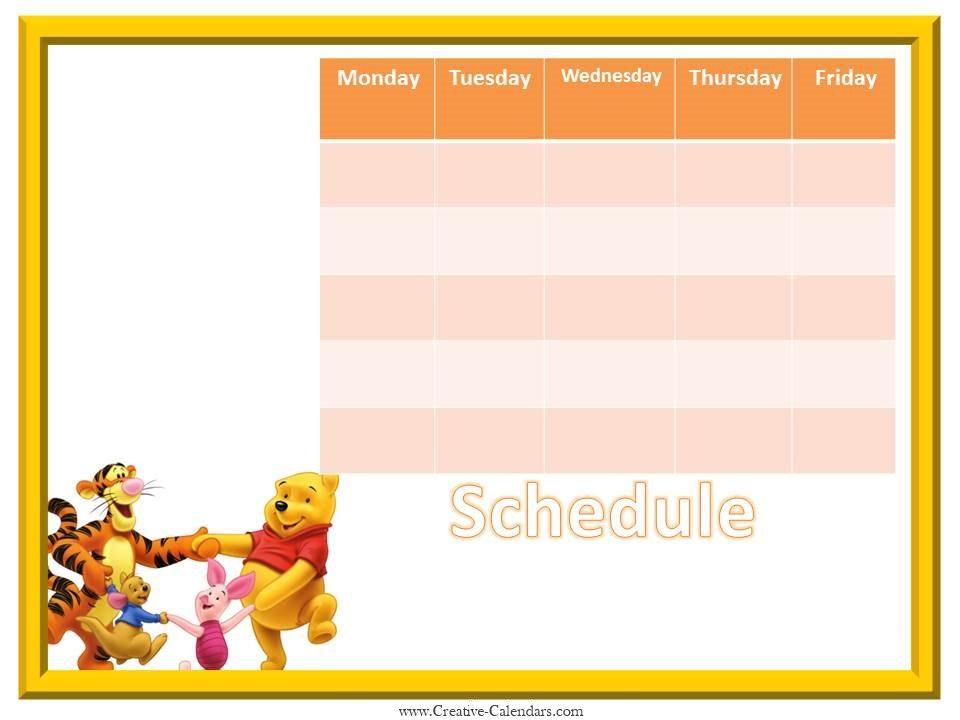 Weekly Meal Calendar Template