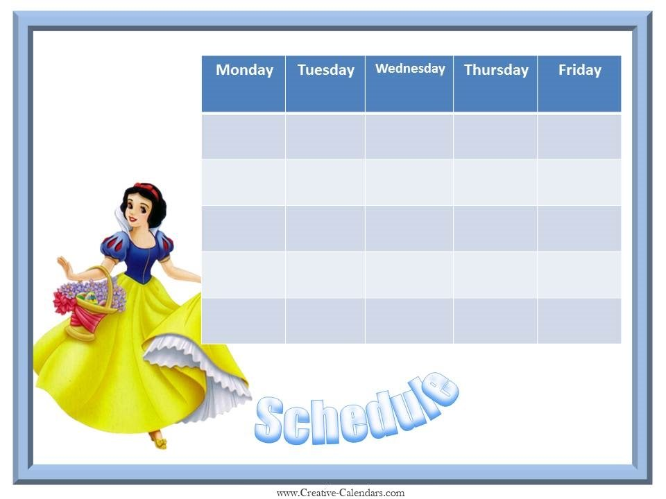 Snow White weekly planner