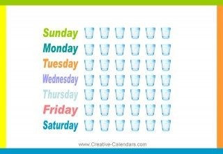 Keep track of how much water you drink