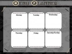 plan your meal and get organized