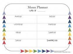 organized your menu