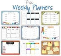 Printable weekly schedules