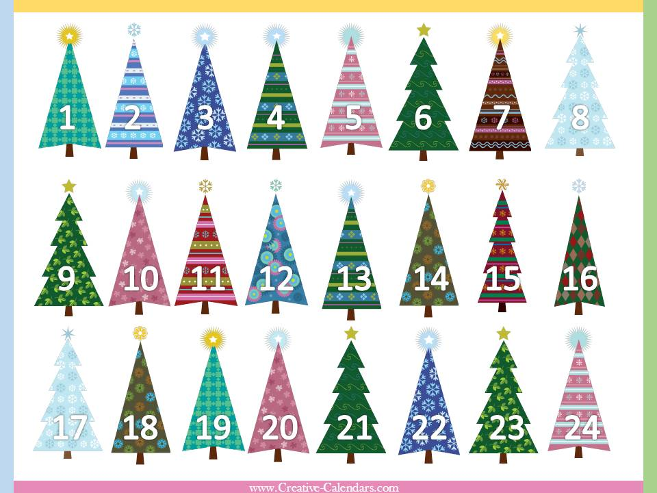 Free Printable Advent Calendars