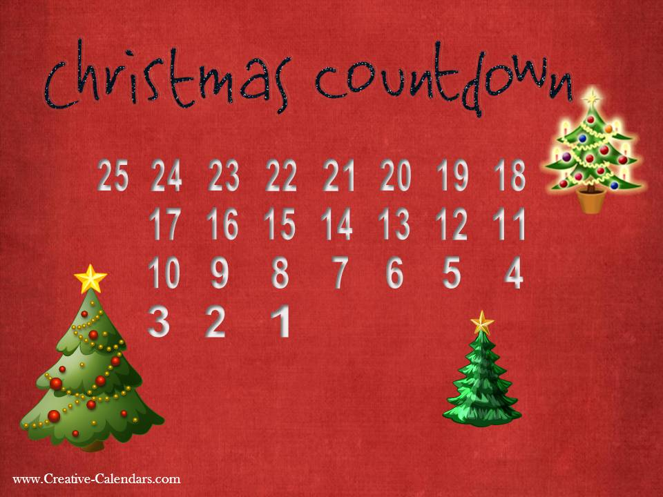 Calendar Countdown Wallpaper : Free printable advent calendars