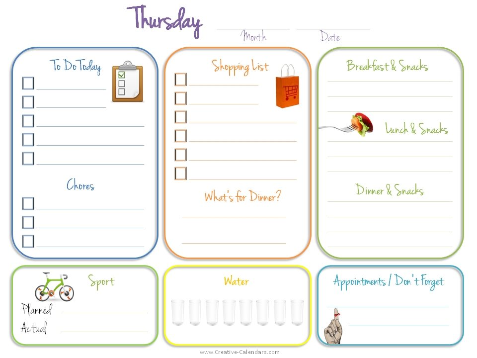 Daily Journal Template – Printable Editable Blank Calendar 2017