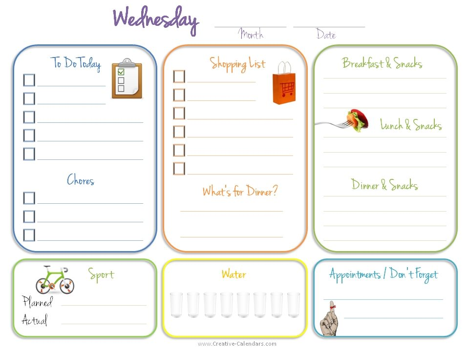 Thursday Printable Planner
