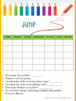 June Worksheet