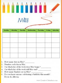 May Worksheet