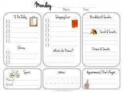 printable daily calendar monday