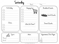 Satuday planner