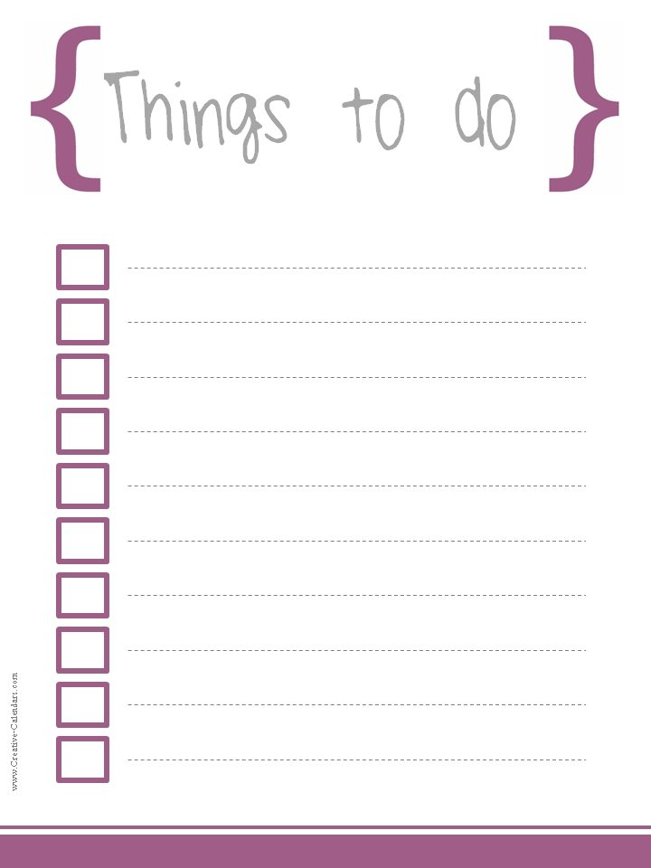 To do list template for Does word have a calendar template