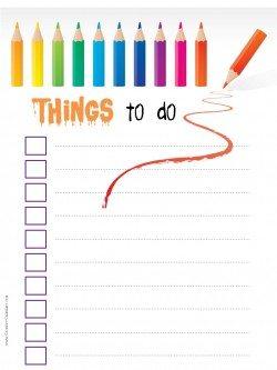 printable task list
