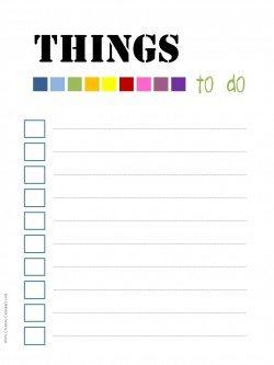 to do list printable