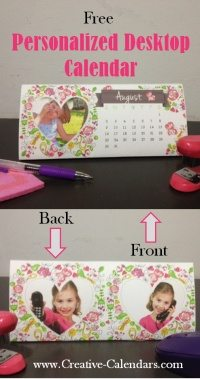 DIY desktop calendar with your own photos