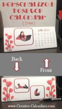 Printable desktop photo calendar