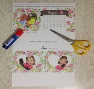 how to make a desktop calendar - materials required